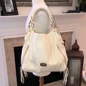 Jimmy Choo Cream Leather Bag